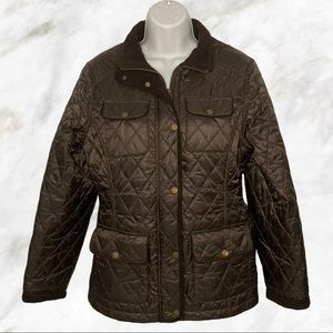 L.L. BEAN Brown Utility Jacket Fleece Lined